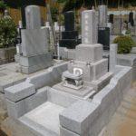 和型墓石 ピンク系御影石