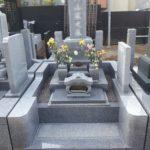 和型墓石 白御影石
