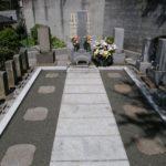 墓地改修工事